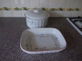 Two oven to table dishes very good condition