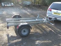 FULLY GALVANISED TRIPLE MOTORCYCLE TRANSPORTER TRAILER WITH RAMP. VERY STRONG TRAILER...