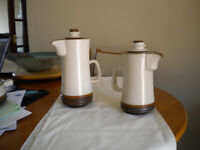Denby Potters Wheel Coffee Pots 1 x 7 inch + 1 x 9 inch good condition