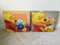 2 x Winnie the Pooh canvas