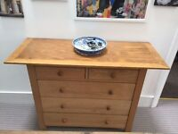 A Pair of John Lewis Solid Oak Chest of Draws in excellent condition