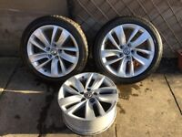 Vauxhall Alloys 18inch , good condition with minor blemishs , 2 with tyres as per photos