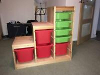 IKEA Trofast stepped storage unit and drawers