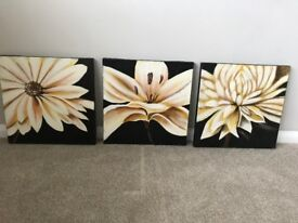 Three Painted Canvases