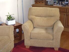3 seat G Plan sofa & 1 matching armchair,flame resistant,excellent condition,buyer to collect