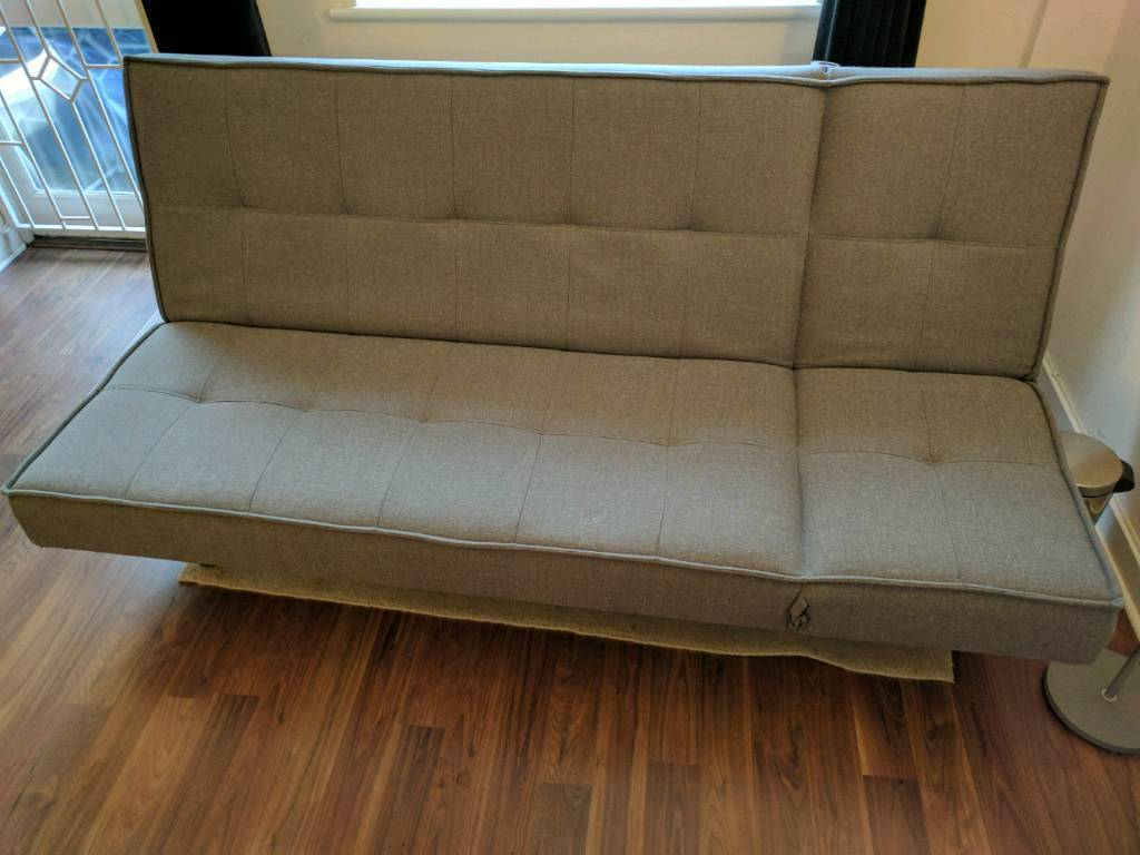 JOHN LEWIS Chaise longue Sofa bed double bed dark grey FABRIC FREE on chaise sofa sleeper, chaise recliner chair, chaise furniture,