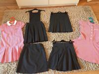 Age 8-9 Grey school skirts and pinafore (mainly marks and Spencer's)