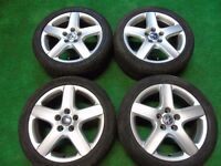 """VW GOLF MK5, SHARAN, PASSAT, TOURAN, CADDY, T4, SKODA 17"""" ALLOY WHEELS"""