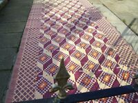 Washable plastic awning carpet