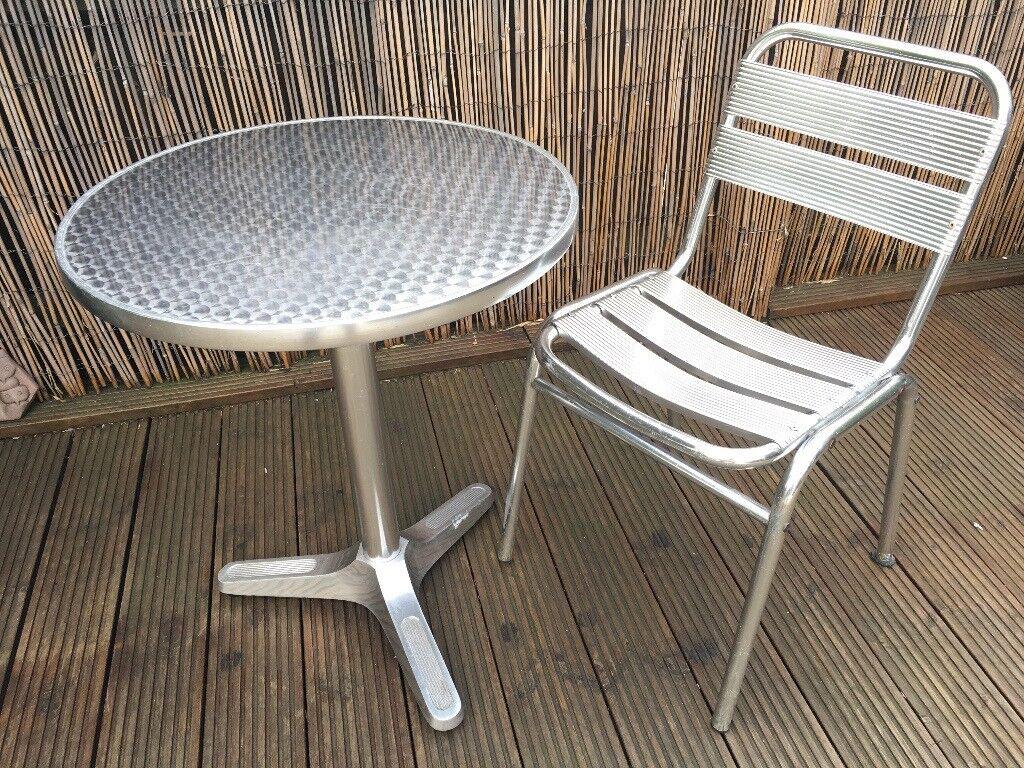 Bistro table aluminium outdoor indoor victoria park