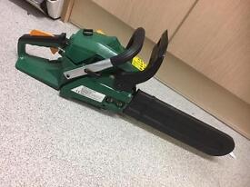 Cordless petrol chain saw