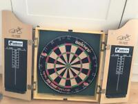 Dart board & cabinet