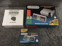 Mini nes with extra controller and AC adapter