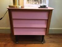Rare beautiful 50s 60s Formica Chest Drawers