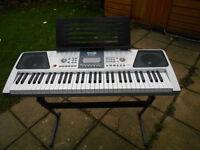 RockJam RJ-661 electric Keyboard, stool and headphones hardly used