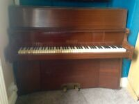 Upright piano available - compact design and in full working condition
