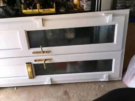 Double porch doors