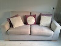 3 and 1 Sofa. Mink coloured. Excellent condition. Only selling as redently moved house.