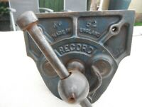 """RECORD No 52 woodworking vice quick release 7"""" jaws"""