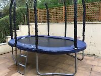 Oval trampoline, without net, 7.5ft x 11.5ft