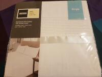 NEW UNUSED SOFT SINGLE DUVET SET duvet cover and pillow case
