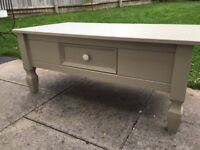 Lovely shabby chic coffee in TV table with little drawer