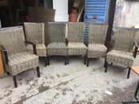 Cane chairs x6