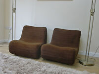 Two low seating units