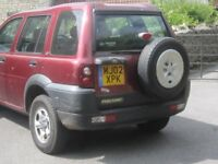 Land Rover Freelander Diesel 2.0TD4 Registered May 2002