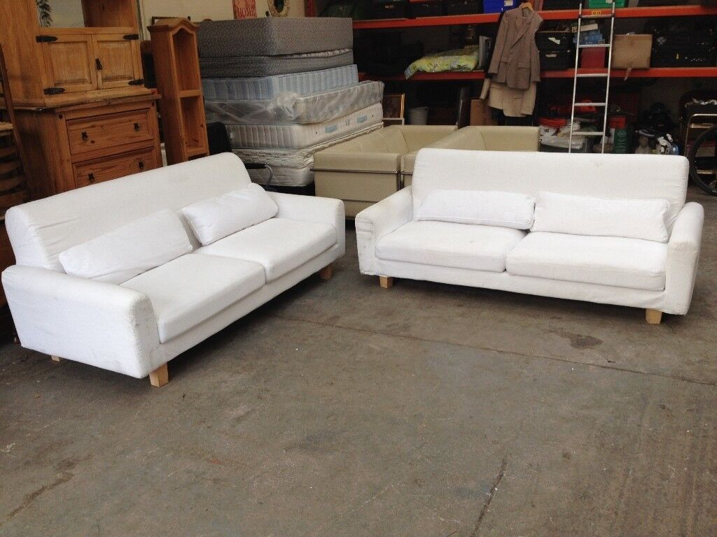 Matching Pair Of Large Ikea Nikkala Sofas Can Deliver To West