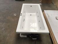 Carron 1700mm x 800mm bath with 8 nozzle whirlpool pump