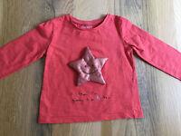 12-18 months baby unisex / girls / boys clothes - Next star t shirt VGUC