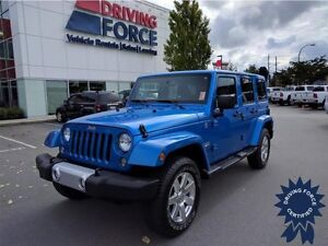 2015 Jeep Wrangler Unlimited Sahara - Leather Seats, 16,481 KMs
