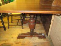 Vintage Art Deco, oak draw leaf table