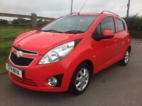 1 OWNER, 2011 CHEVROLET SPARK 1.2 LS+ MODEL, AIR CON & ALLOYS, £30 ROAD TAX, LOW MILEAGE & TAX