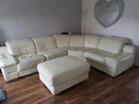 Corner sofa - leather