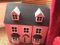 Childrens Dolls house and accessories .