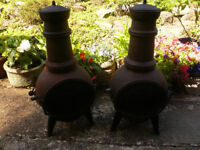 1 CAST IRON CHIMENEA LEFT (1 Already sold)
