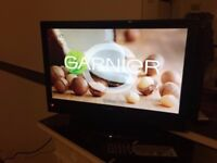 19 inch black tv/dvd with built in free view