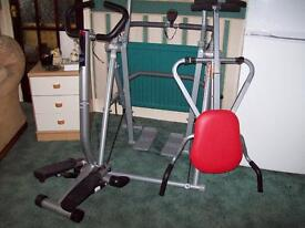 Three Pieces of gym equipment