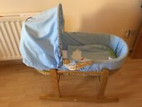 Baby Moses basket with Rocker
