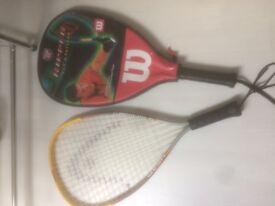 2 x Racketball rackets