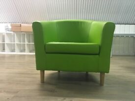 Bright Green Armchair, Great Condition, Barely Used, Office Clearance