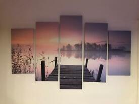 Lake view canvas