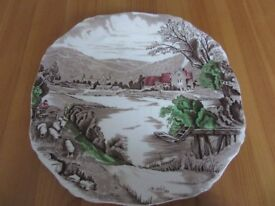 brown decortiave bowl. alfred meakin. england