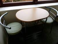 SMALL KITCHEN TABLE & CHAIRS