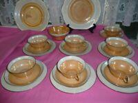 Vintage Czechoslavakian Victoria 21 Piece Tea Set