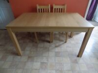 Immaculate IKEA Oak Effect Extendable Table 6 - 10 People - £100ono Table now sold