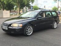 2006 VOLVO V70 2.4 SE AUTO * BLACK * LEATHER * FULL HISTORY * LONG MOT * PX * DELIVERY * FINANCE *