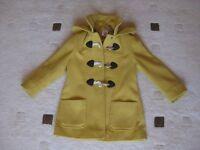 Girl's yellow duffle coat age 4